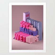Typographic Insults #2 Art Print