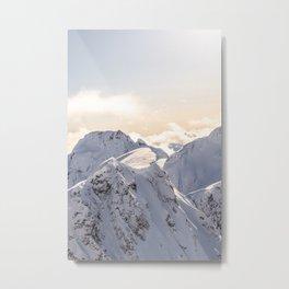 Sun in the mountains Metal Print
