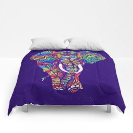 Not a circus elephant #violet by #Bizzartino Comforters