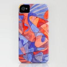 Red Doodle iPhone (4, 4s) Slim Case