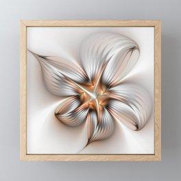 Elegance of a Flower, modern Fractal Art Framed Mini Art Print