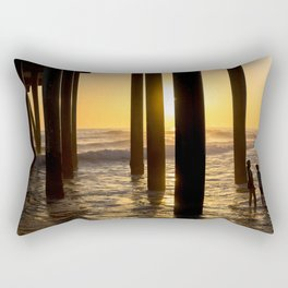 California Under Pier Sunset Kids Edition Rectangular Pillow