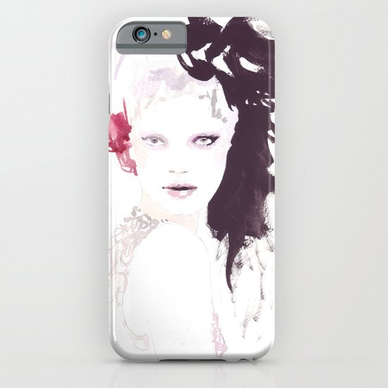 Fashion illustration in watercolors iPhone & iPod Case