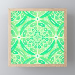 Kiwi green geometric Framed Mini Art Print
