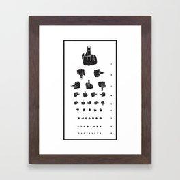 MIDDLE FINGER VISION TEST Framed Art Print