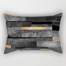 Urban Black & Gold Rectangular Pillow