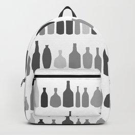 Bottles Black and White on White Backpack