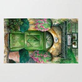 doors collection: green door Rug