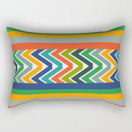 Multicolored stripes and waves Rectangular Pillow