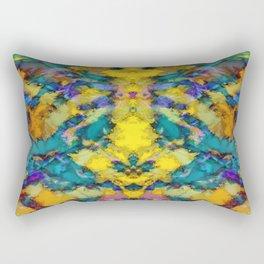 Interlocking ghosts yellow Rectangular Pillow
