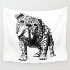 English Bulldog Wall Tapestry
