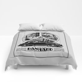 Panhard 1936 classic French art deco auto Comforters