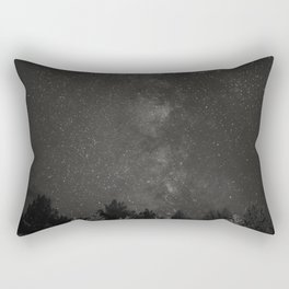 The Milky Way Above Oregon - B+W Rectangular Pillow