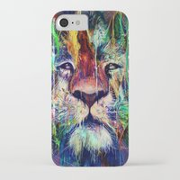 iPhone Cases featuring Lion by nicebleed