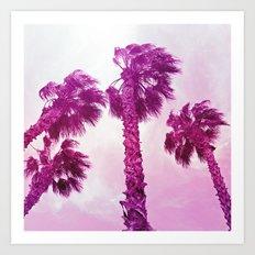Neon Palms Art Print