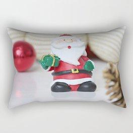 christmas decoration and Santa Claus Rectangular Pillow