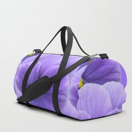 LILAC PURPLE SPRING PANSY FLOWERS ART Duffle Bag