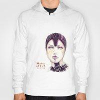fashion illustration Hoodies featuring Fashion illustration  by Ioana Avram