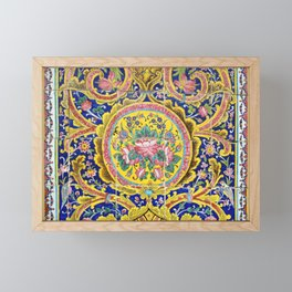 Floral Persian Tile Framed Mini Art Print