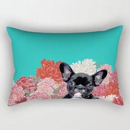 Frenchie's garden Rectangular Pillow