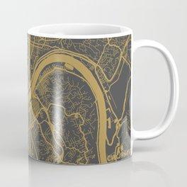 Cincinnati map ocher Coffee Mug