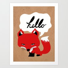 The Fox Says Hello Art Print