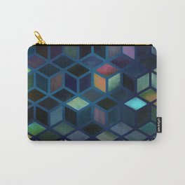 Pastel Boxes Blue Carry-All Pouch