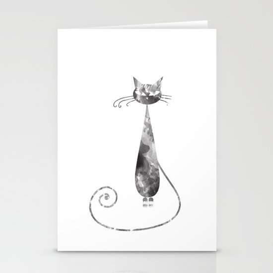 Serious Cat Stationery Cards