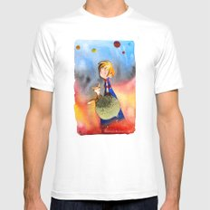 Little Prince White MEDIUM Mens Fitted Tee