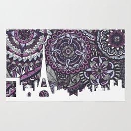 Paris Skyline, Paris Art Print, Paris Zentangle, Paris illustration, Home Decore, City silhouette Rug