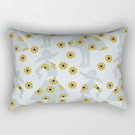 Audrey on the flower meadow Rectangular Pillow