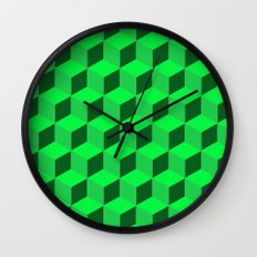 Geometric Series (Green)  Wall Clock