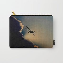 aircraft sunset clouds Carry-All Pouch