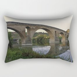 Medieval Bridge - Puente la Reina, Camino to Santiago de Compostela Rectangular Pillow