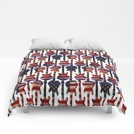American Flag Guitar Art Comforters