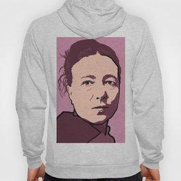 Simone de Beauvoir Red Pink Mauve Hoody