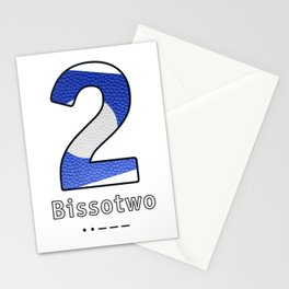 Bissotwo - Navy Code Stationery Cards