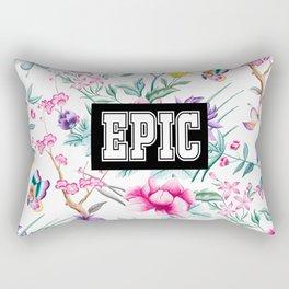 EPIC - white floral pattern Rectangular Pillow