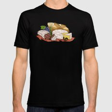 Perfect Picnic MEDIUM Black Mens Fitted Tee