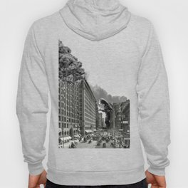 Old Time Godzilla in New York Hoody