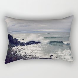 Rough Seas: Ocean Wave Rectangular Pillow