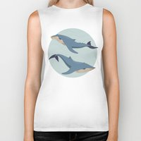 whales Biker Tanks featuring Whales by Evgeniya Ivanova