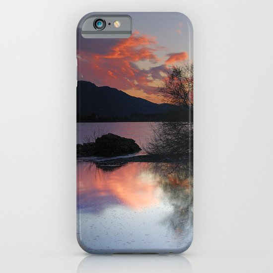 Trees in the water at the red sunset iPhone & iPod Case
