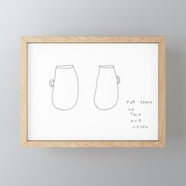 For Peace - coffee cup illustration Framed Mini Art Print