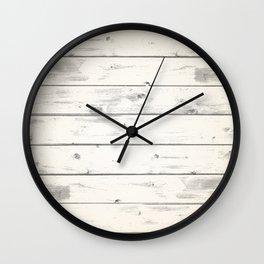 Light Natural Wood Texture Wall Clock