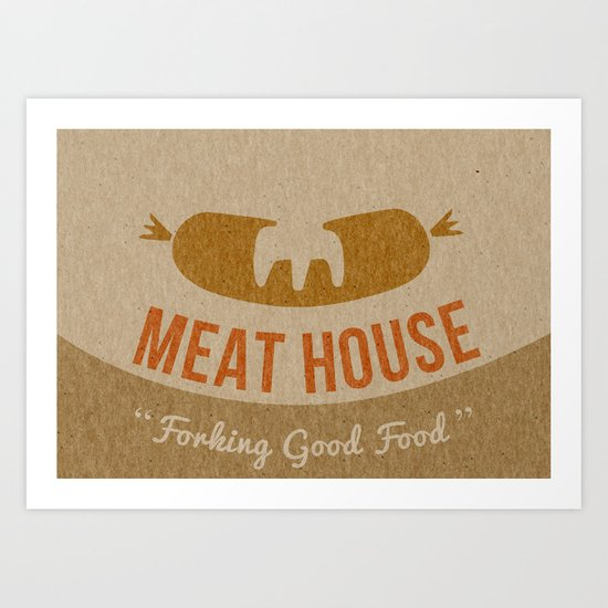 Book a table and I'll meat you there Art Print
