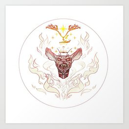 Physic Fire Art Print