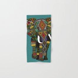 floral elephant teal Hand & Bath Towel