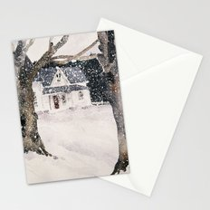 February snow Stationery Cards
