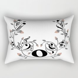Music swirl Rectangular Pillow